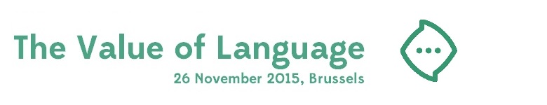 The Value of Language II, 26 November 2015 Brussel