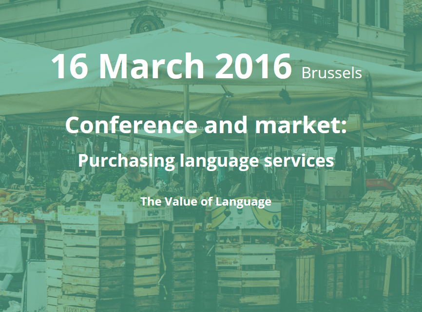Purchasing language solutions, TVOL 16 March 2016 - Brussels