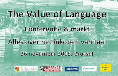 The Value of Language, 25 november 2015 Brussel